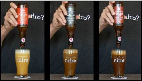 Pouring a Left Hand Nitro beer
