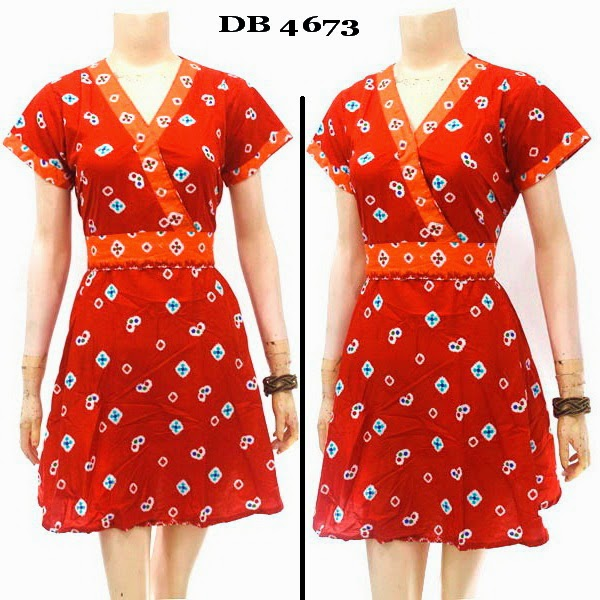 Baju Dress Batik Jumputan
