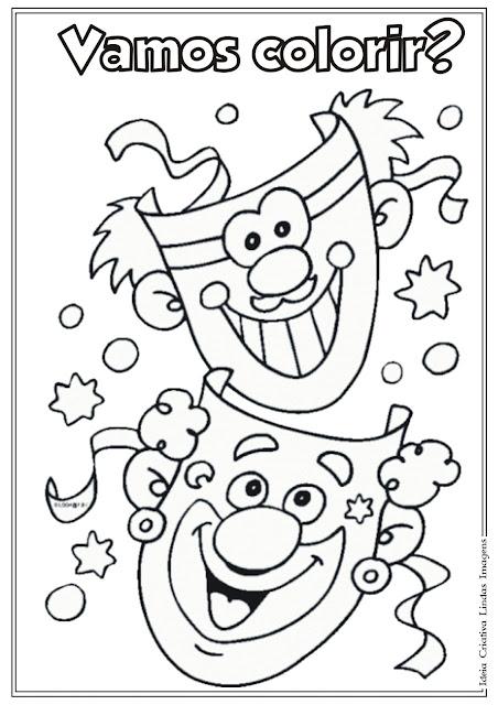 Desenho de Carnaval para colorir