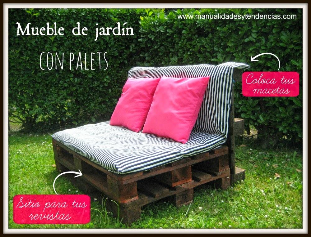Manualidades y tendencias sof de jard n con palets - Muebles de jardin hechos con palets ...