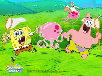 wallpaper spongebob dan petrik