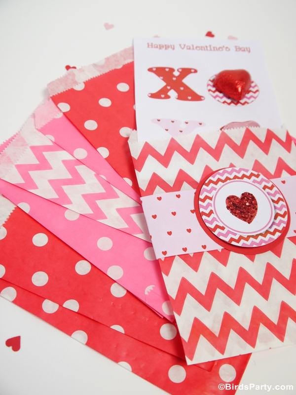 Four Valentines Day DIY Cards with Free Printables  Party Ideas
