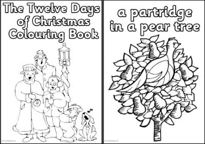 12 Days of Christmas Printable Coloring Pages