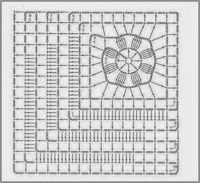Вязание крючком в стиле пэчворк схемы с подробным описанием 81