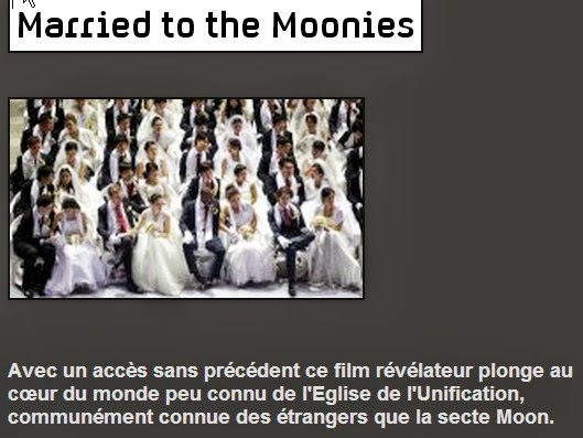 Secte Moon : Vidéos : Married to the moonies -Tragedy of 6 marys and in the kingdom of Moon
