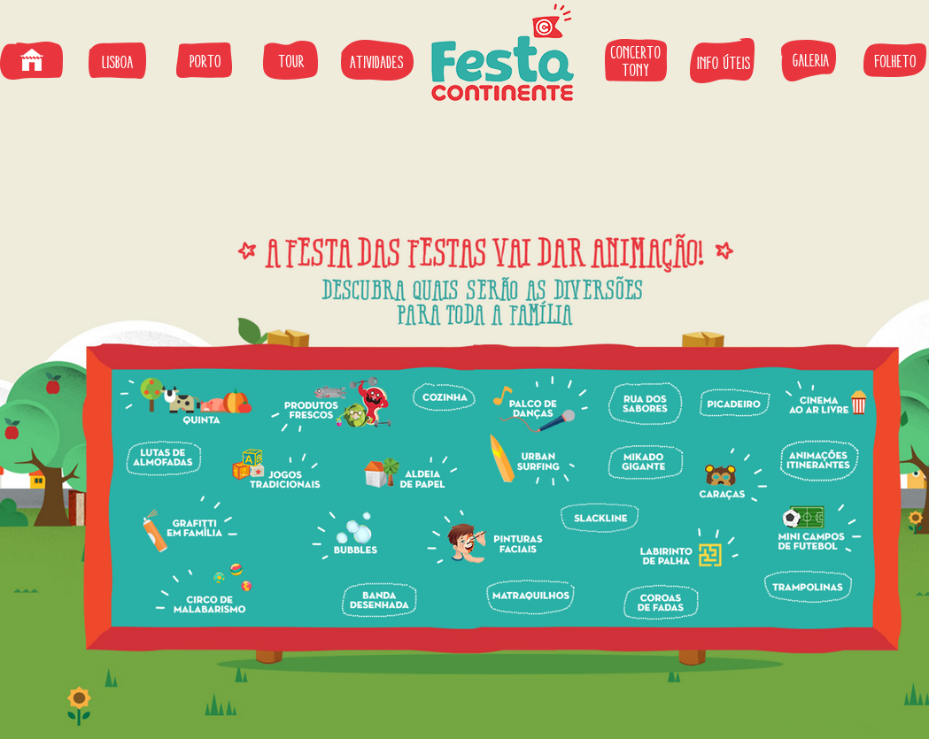 Lista de Atividades da Festa
