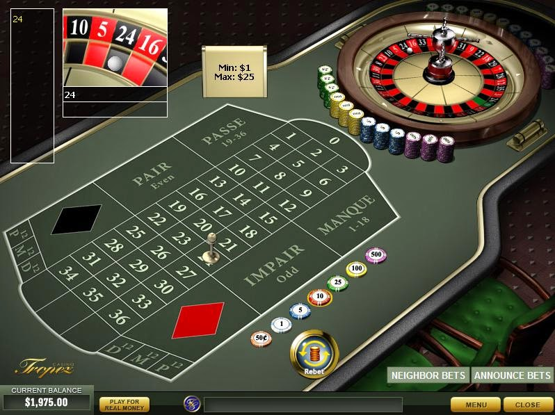 Casino Tropez Roulette Screen