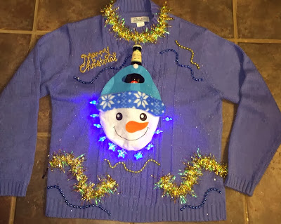 beer holder ugly christmas sweater idea
