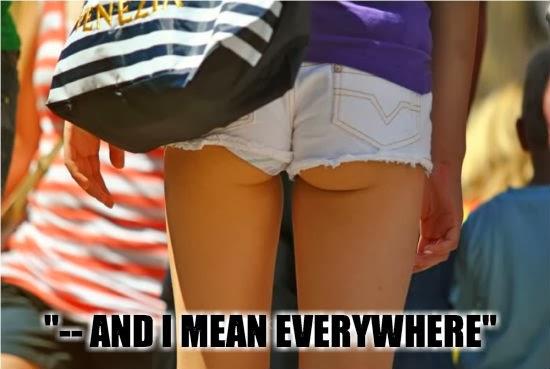 Pekpek shorts are everywhere!