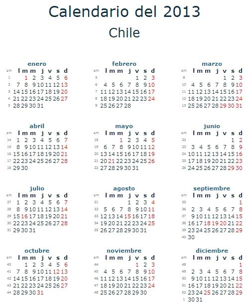 1 calendario 2013