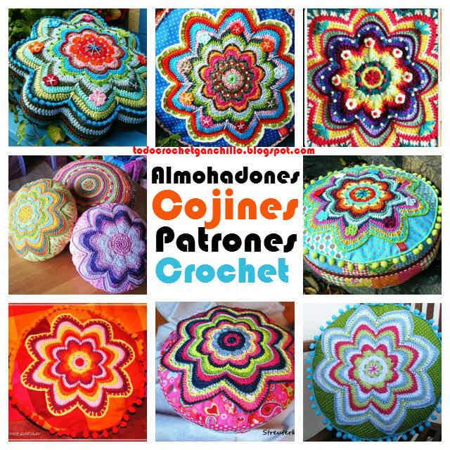 Cojines ~ Almohadones muy creativos al crochet | Todo crochet