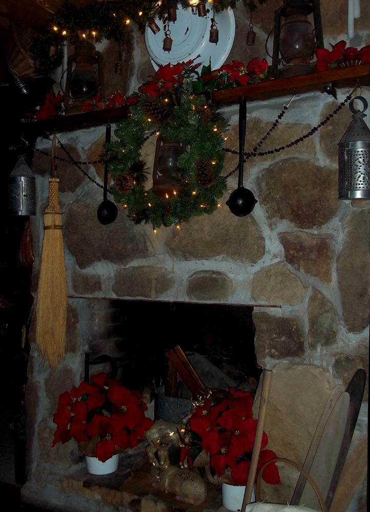 York Mountain Primitives Rustic Farmhouse Fireplace