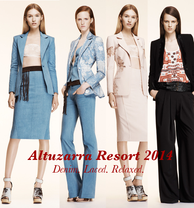 Altuzarra Resort 2014. Relaxed Lace and Denim.