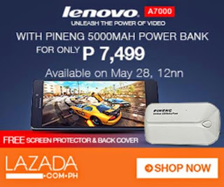 Lenovo A7000 Lazada Sale This Coming May 28, Bundled with Pineng 5000mAh Power Bank