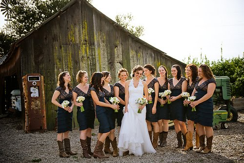Bridesmaid Shoes Cowgirl Boot Inspired