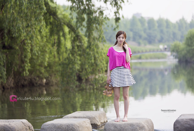 3 Chae Eun in Purple  - very cute asian girl - girlcute4u.blogspot.com