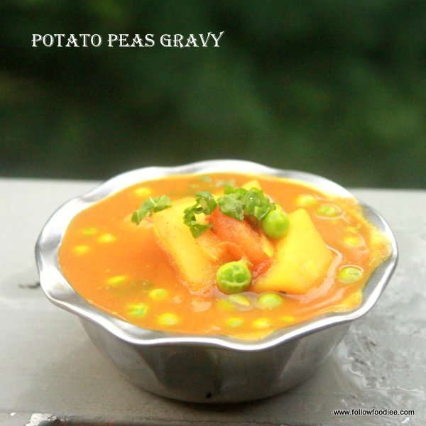 Aloo Mutter Gravy , Aloo Peas Masala Recipe
