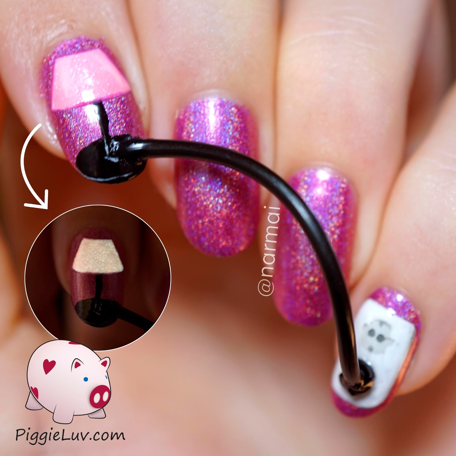Piggieluv plugged in nail art this is the most annoying nail art ive ever done it was so inconvenient having two nails essentially on a leash obviously its not for actual wear prinsesfo Images