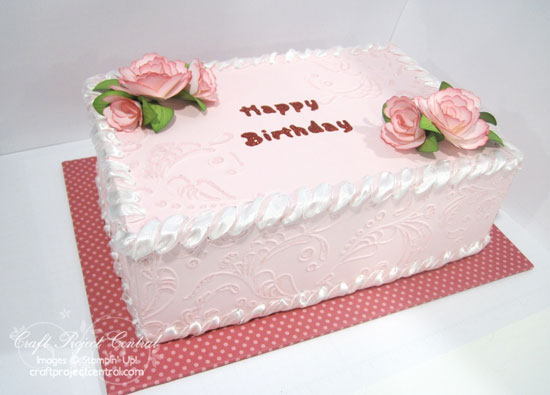 The inside of the box is 5-1/2u201d wide x 8-1/2u201d long x 2-3/4u201d tall. The sparkling frosting swirls and beautiful flowers finish off this cake and make it look ... & Krafting Kreations: Birthday Cake Gift Box and Blog Candy! Aboutintivar.Com