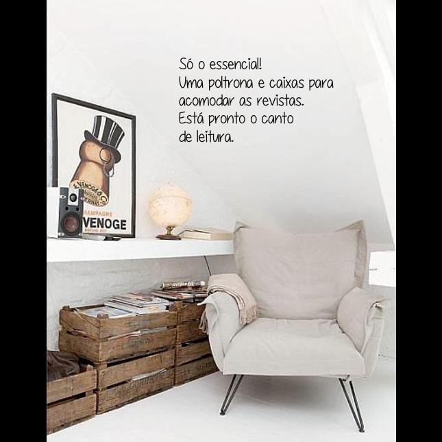 decoraçao-pequenos espaços-loft-canto de leitura