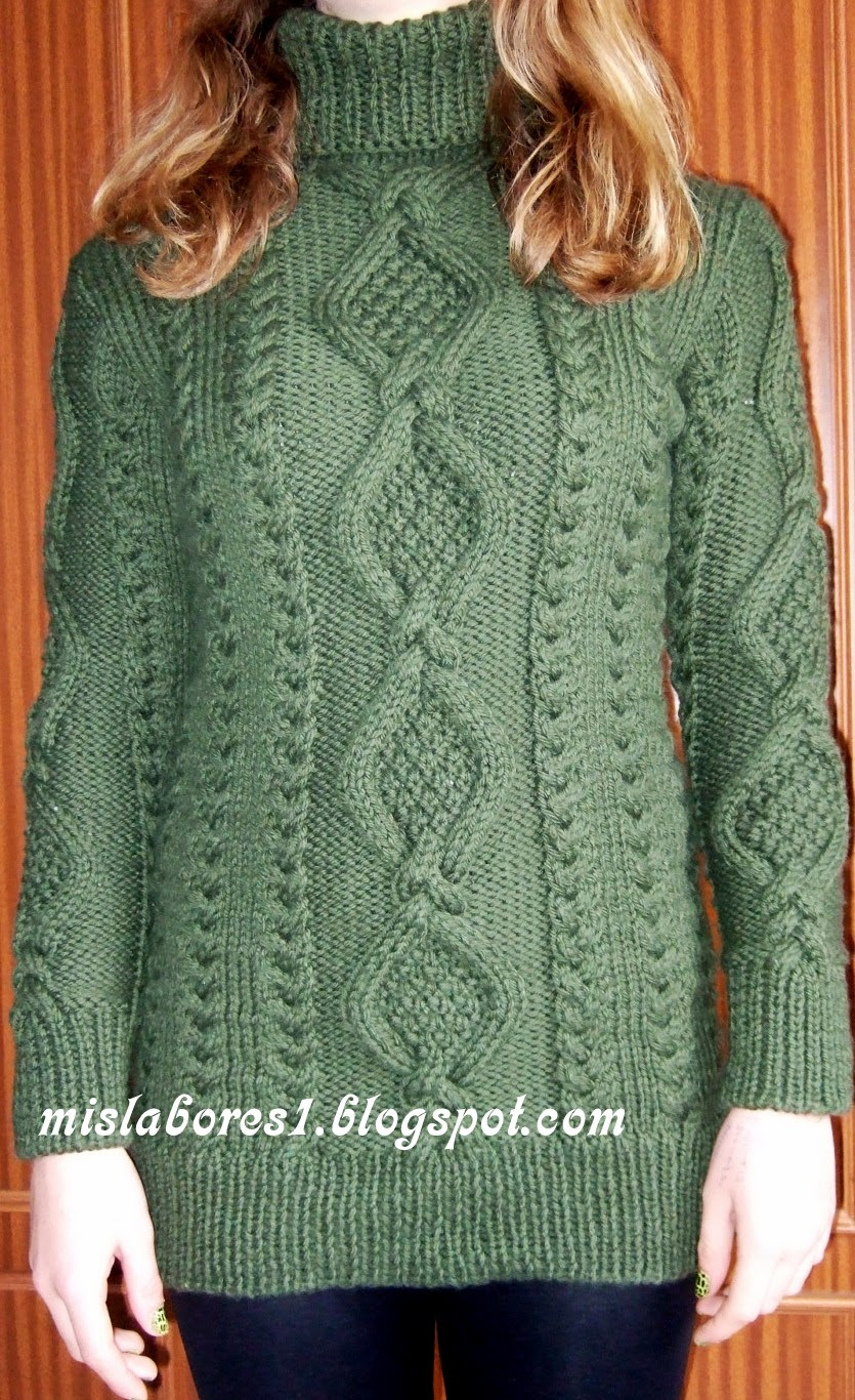 Mis labores vestido de punto - Puntos de lana ...