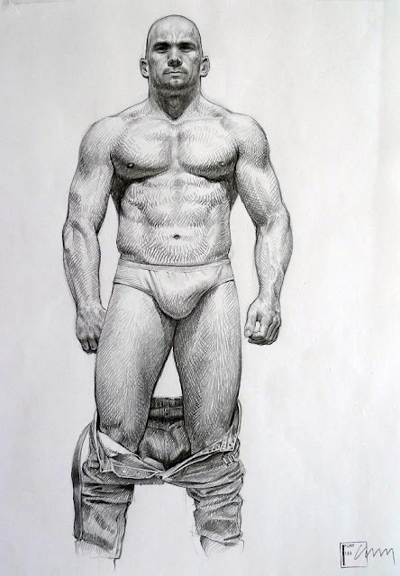 MALE DRAWING ART BLOG :  FURY 161 / MARC MING CHAN DRAWING GRAPHITE ON PAPER c1995