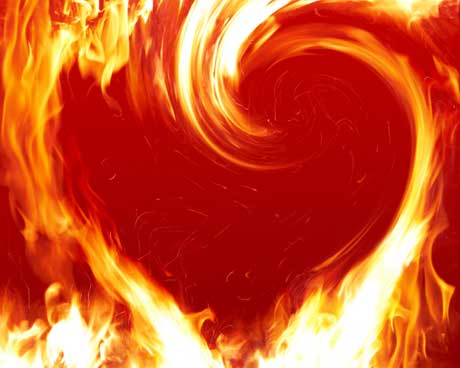 pictures of hearts on fire. Most Sacred Heart of Jesus, set my heart on fire that I may be the servant