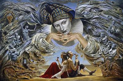 """El ángel guardián"", Michael Cheval, Mónica López Bordón"