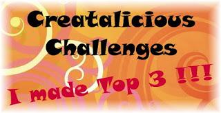 Top 3 at Creatalicious