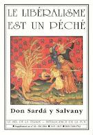 """Lea el libro """"EL LIBERALISMO ES PECADO"""", del P. Sardá y Salvany"""