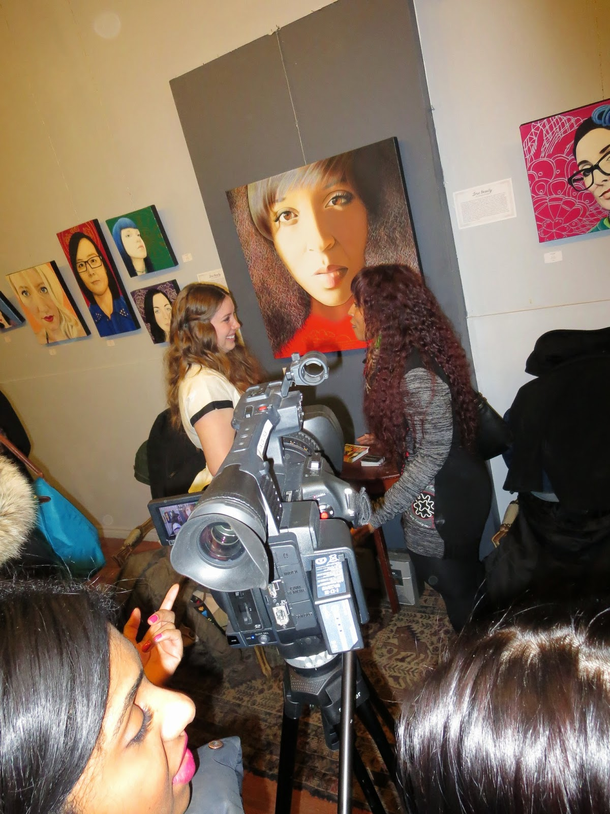 True Beauty, Beauty Art, Beauty Paintings, art, artwork, artist, beauty artist, malinda prudhomme, toronto portrait artist, ben navaee gallery, portrait, portrait painting, emerging toronto artist, art opening, opening night, toronto events, snap, video, art show, toronto art exhibition, solo art exhibition, malinda, realism, realistic portraiture