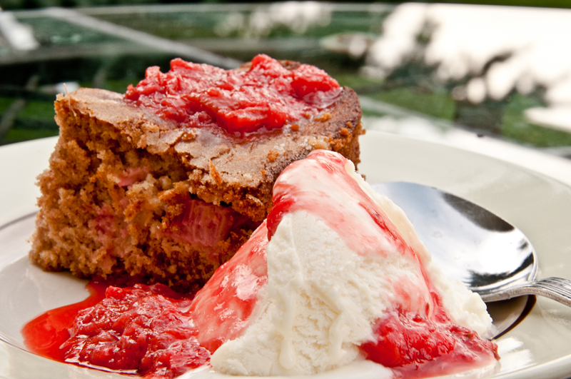 The Arrogant Chef: Rhubarb Snack Cake (From Something Edible)