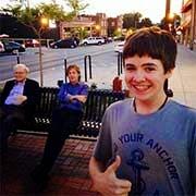 Tom White with Paul McCartney and Warren Buffett