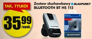 Zestaw słuchawkowy Blaupunkt BT HS 112 z Biedronki ulotka