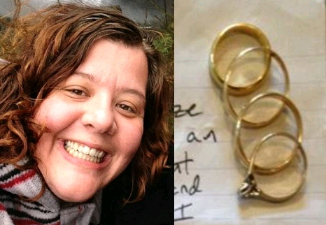 stolen wedding rings returned