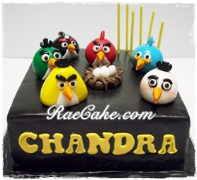 Angry Bird Cakes for Father and Daughter Kue Ulang Tahun Birthday