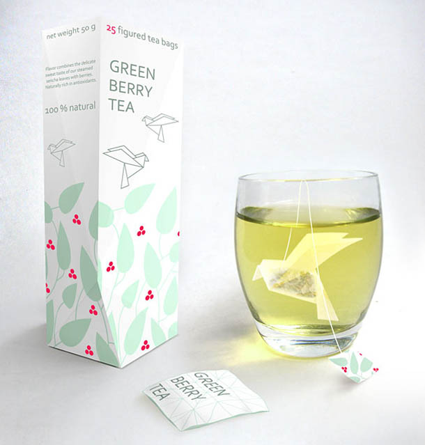 Design de Embalagem - Green Berry Tea - Packaging Design