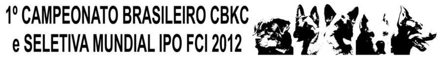 Campeonato Brasileiro CBKC e Seletiva FCI 2012