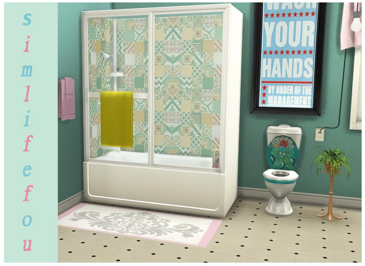 My Sims 4 Blog Shower Tub Recolors By Mysimlifefou
