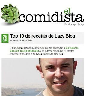 Lazy Blog, en el Comidista