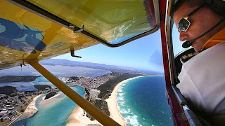 Aerial beach patrols in search of sharks