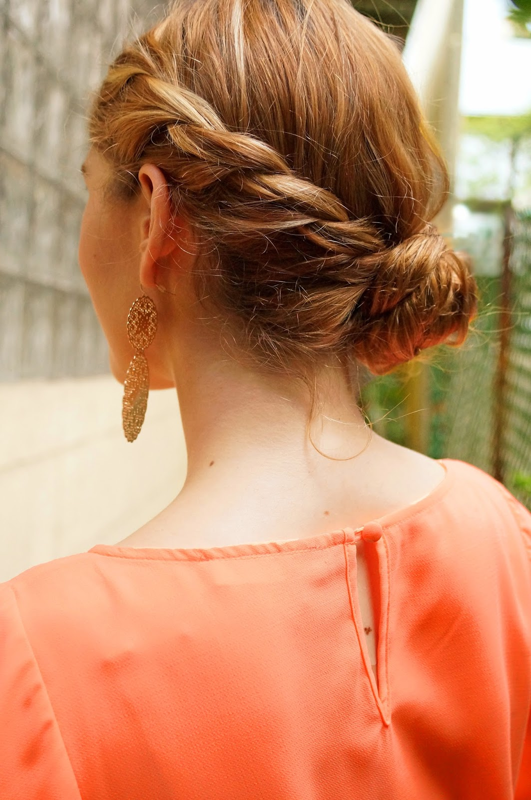 Cute Braided updo Hairstyle for Summer!