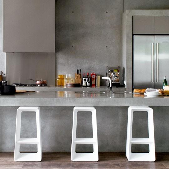 Dise o de cocinas con cemento pulido for Cocinas de concreto modernas