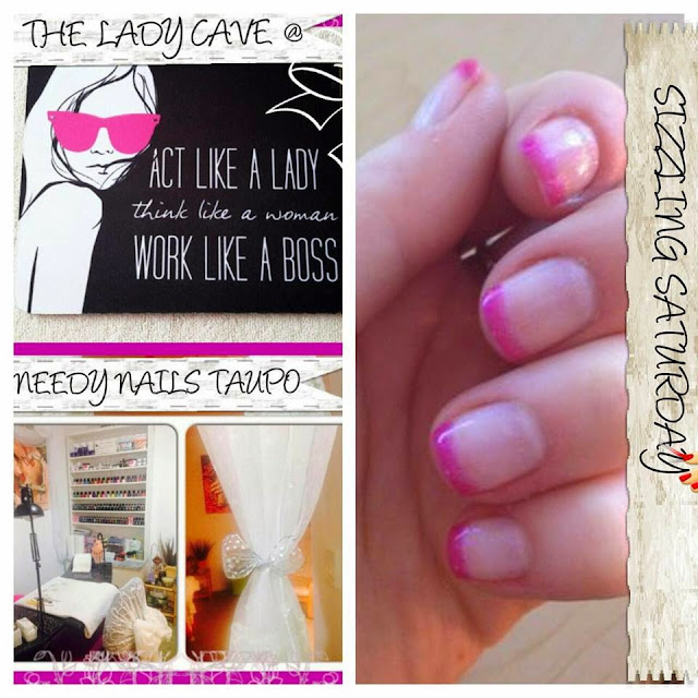 Acrylics, shellac, nail art designs french hot pink manicure with silver smiles