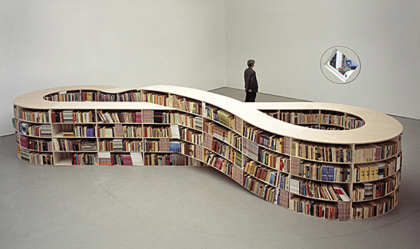 Infinity Bookcase on Design and fashion recipes