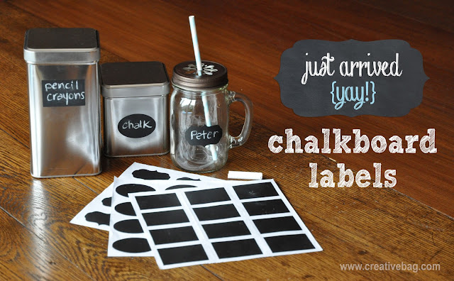 chalkboard labels available at www.creativebag.com