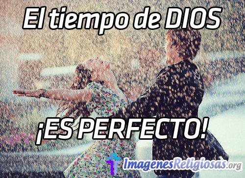El tiempo de dios es perfecto (Imagen Religiosa Motivadora)