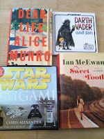 Ian McEwan Sweet Tooth Dear Life Alice Munro Star Wars Origami Darth Vadar and Son