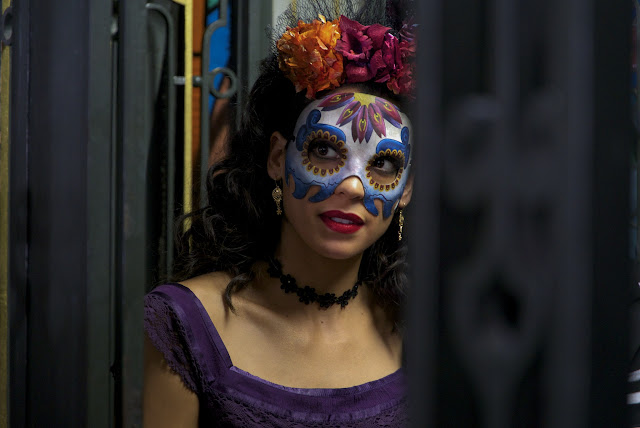 Stephanie Sigman plays Estrella in the opening sequence of Metro-Goldwyn-Mayer Pictures/Columbia Pictures/EON Productions' action adventure SPECTRE, on location in Mexico City.