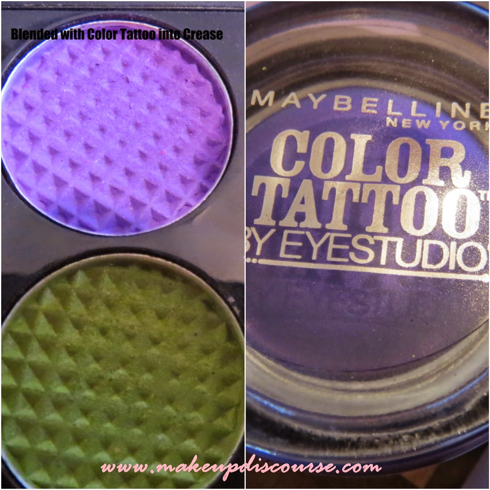 Maybelline Color Tattoo in Painted Purple, Maybelline Colossal Eyeliner